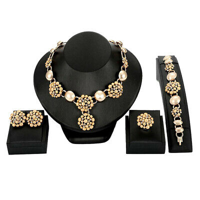 AU18.73 • Buy Fashion Flower Jewelry Sets For Women Wedding Bridal Party Accessories AE