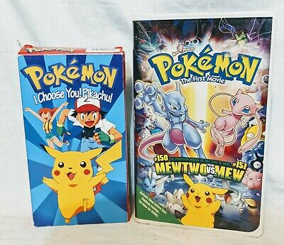 $5.51 • Buy Pokémon The First Movie: Mewtwo Strikes Back And I Choose You Pikachu (VHS)