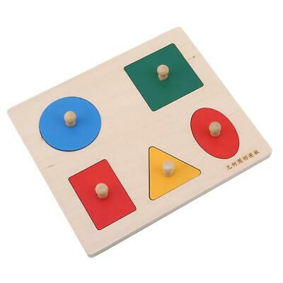 £6.68 • Buy Wooden Geometric Shapes Puzzle Learning Educational Game Baby Toys SU