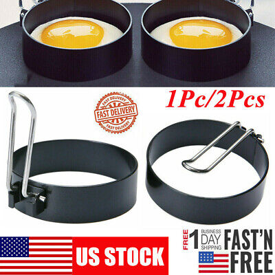 $6.89 • Buy Non-Stick Metal Egg Pancakes Frying Ring Shaper Circle Round Fried Poach Mold US