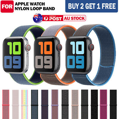 AU7.99 • Buy For Apple Watch Band Series SE/6/5/4/3/2 Nylon Sport Loop IWatch Strap AU Stock