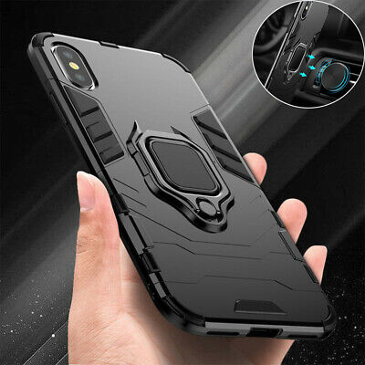 Case For IPhone 11 12 SE XR XS 8 7 Shockproof Rugged 360 Ring Stand Armor Cover • 4.75£