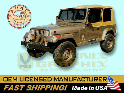 AU236.31 • Buy 1988 1989 1990 1991 Jeep Wrangler Sahara Edition YJ Decals & Stripes Kit