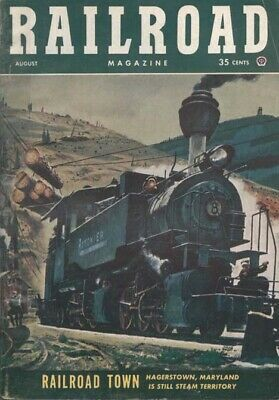 $8.50 • Buy RAILROAD MAGAZINE,8/53:HAGERSTOWN;NORTHWESTERN PACIFIC;MANCHESTER NH;GN St.CLOUD