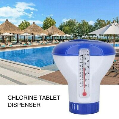 $4.59 • Buy Swimming Pool Chemical Dispenser Chlorine Tablet Feeder W/ Floating Thermometer*