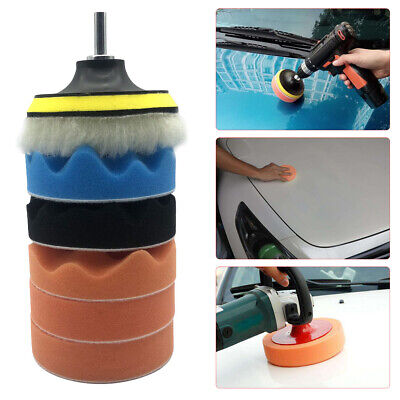 7pcs 5 Inch Sponge Buffing Polishing Pad Kit For Car Polisher With Drill Adapter • 5.82£