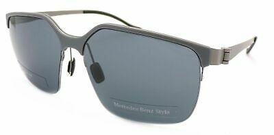 MERCEDES BENZ STYLE Sunglasses Half Frame Matte Grey With Grey Lenses M1037 B  • 44.99£
