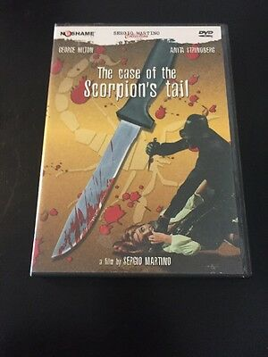The Case Of The Scorpion's Tail Dvd No Shame Sergio Martino Collection • 70.06£