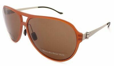 MERCEDES BENZ STYLE Sunglasses Brown Tan Platinum / Dark Brown Lenses M3017 C  • 44.99£