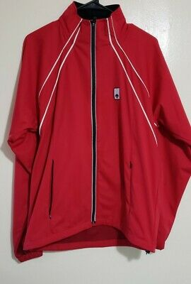 $40 • Buy  Descente Men Sz M  Red Lightweight Jacket Windbreaker