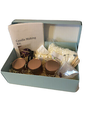 Eco Coconut/soy Wax Candle Making Kit 3 Tin Kit. • 14.50£