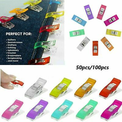 UK 10/50/100PCS  Wonder Clips For Quilting Fabric Craft Knitting Sewing Crochet • 3.89£