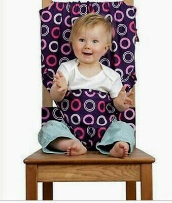 Totseat Purple Fabric Washeable Portable Baby Seat Chair Harness • 2.99£