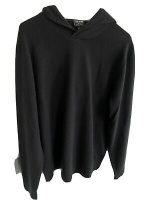$44 • Buy Todd Snyder Cashmere Hoodie Black Large Pullover Sweater