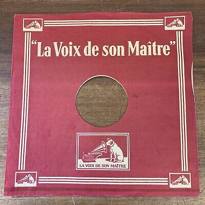 6 Vintage French PAPER GRAMOPHONE RECORD COMPANY SLEEVES Envelopes  Decca HMV • 22£