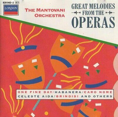 The Mantovani Orchestra : Great Melodies From The Operas CD Fast And FREE P & P • 2.36£