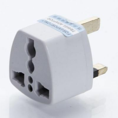 Shaver Plug Adapter Eu 2Pin To UK 3 Pin Euro European Travel Shaving Adaptor New • 2.75£