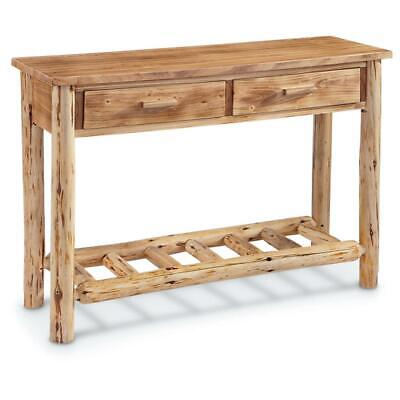 $212.99 • Buy NEW ! Rustic Log Sofa Accent Table Home Cabin Decor Laquer Finish Natural Pine