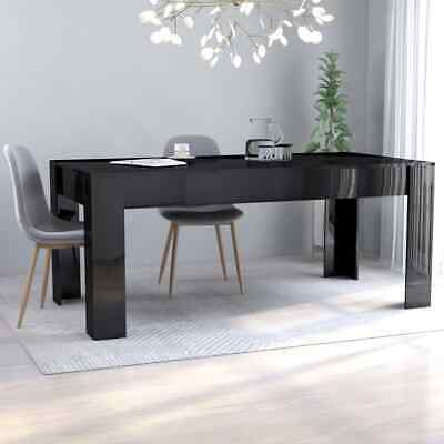 AU240.99 • Buy VidaXL Dining Table High Gloss Black 180cm Chipboard Dining Room Kitchen Stand