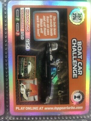 Top Gear Turbo Challenge Super Rare Boat Car Challenge No 267 • 5£