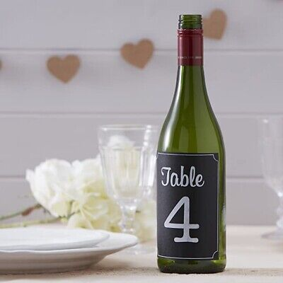 £4.50 • Buy Ginger Ray Wedding Chalkboard Bottle Sticker Table Numbers 1-12 Vintage Style