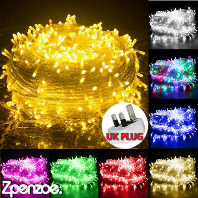 £5.49 • Buy 20/100/200/500LED Solar Powered Fairy Garden Lights String Outdoor Party Wedding