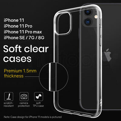 AU4.90 • Buy Clear Case Cover For IPhone 11 Pro Max SE 7G 8G Shockproof Bumper Apple Shock