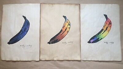 $87 • Buy Andy Warhol - Lot Of 3 Rare Edition Hand-carved Bananas