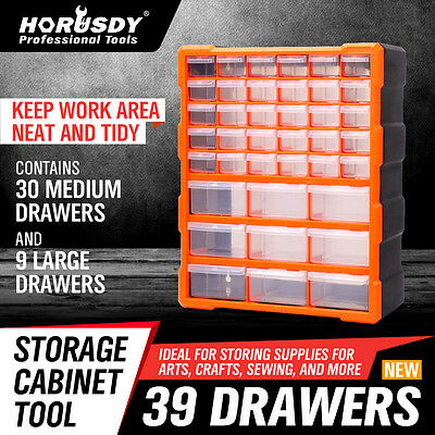 AU38.99 • Buy 39-156 Drawers Storage Cabinet Tool Box Bin Chest Case Plastic Organiser Divider