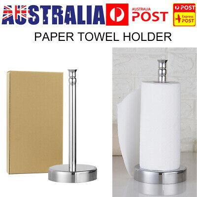 AU16.59 • Buy Stainless Steel Roll Paper Towel Holder Kitchen Bathroom Tissue Rack Home Tool