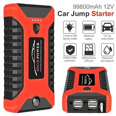 AU82.02 • Buy 99800mAh Portable Car Jump Starter Vehicle Charger Battery Engine Power Bank