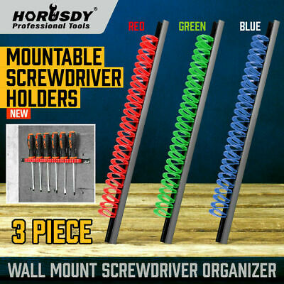 AU15.99 • Buy 3Pc Wall Mounted Tools Holder Screwdriver Organizer Rail Rack Storage 3-Color