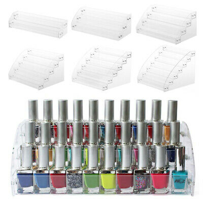Acrylic Nail Polish Tiers Cosmetic Storage Display Stand Rack Lipstick Organizer • 15.95£