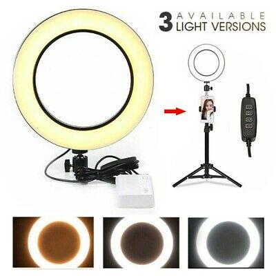 AU19.69 • Buy 16cm Dimmable Mini Selfie Tripod LED SMD Ring Light Makeup Live Round Fill Lamp