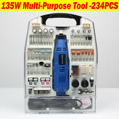 234pc Rotary Multi Tool Set Dremel Compatible Accessories Mini Drill Hobby • 28.30£