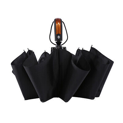 AU16.57 • Buy 10Ribs Strong Automatic Open Close Umbrella Folding Compact Windproof Travel AU