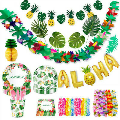 Jungle Hawaiian Tropical Bunting Banner Garland Beach Luau Party Decoration • 2.89£