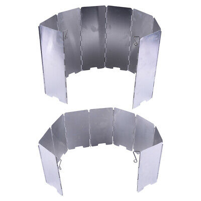 AU16.26 • Buy 8/9 Foldable Camping Cooking Picnic Gas Stove BBQ Burner Windshield Wind Screen;