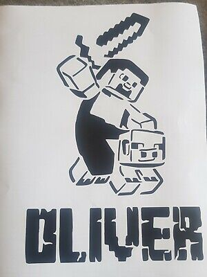 Minecraft Personaled Wall Sticker Vinyl Decal Ps4 Xbox • 4.69£