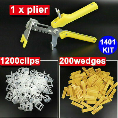100x Reusable Tile Leveling System Kit Alignment Floor Ceramic Spacer Clips Tool • 15.99£