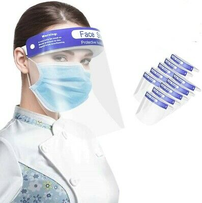 Face Shield Full Face Visor Protection Mask Ppe Shield Transparent Clear Plastic • 3.99£