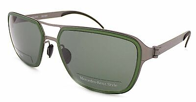 MERCEDES BENZ STYLE Sunglasses Green - Gunmetal / Dark Green Lenses M5031 C • 44.99£