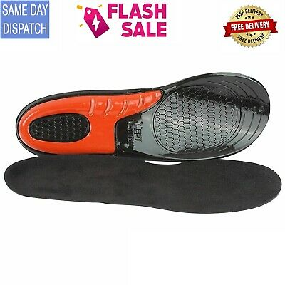 £6.19 • Buy Work Boot Insoles Hiking Trainer Inner Soles Foot Inserts Silicone Gel Size 6-9