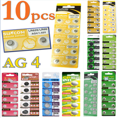 AU3.13 • Buy Lots Of 1.55V AG4 AG3 AG10 AG13 CR2016 CR2032 3V Watch Button Coin Cell Battery