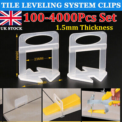 100-4000Pcs Tile Leveling System Clip Floor Tiling Alignment Leveler Spacer Tool • 4.99£