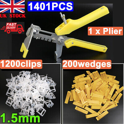 100X Tile Leveling System Spacer Wedges Tool Wall Floor Alignment Tiling Tools • 5.29£
