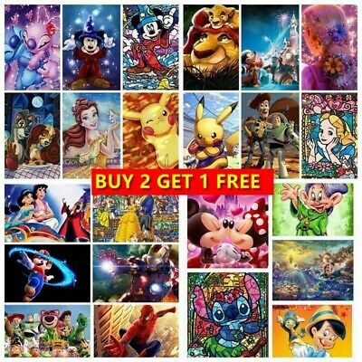 AU13.49 • Buy Cartoon 5D DIY Full Drill Diamond Painting Embroidery Kits Home Decor Arts Gifts