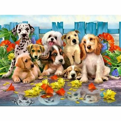 AU16.49 • Buy Lovely Dogs 5D DIY Diamond Painting Full Drill Embroidery Kits Art Decor + Tool