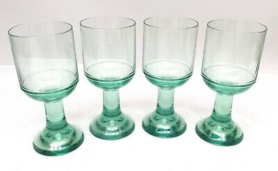 $25 • Buy Four (4) Strahl New Zealand Polycarbonate Unbreakable Green Wine Goblets Glasses