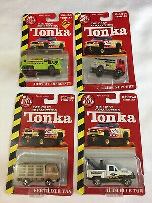 $12 • Buy 4 Tonka Die Cast Collection Auto Tow Firetruck Airport Fire Fertilizer Van Nos